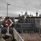 Tower of London with Tube sign by Jasna