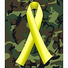 U.S. Military Green Camo, Yellow Ribbon by A1RB