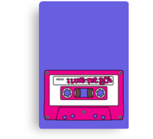 I love the 80's - pink tape Canvas Print