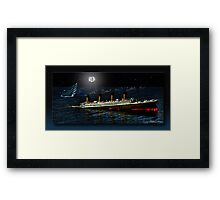 SHIT! ( Captain Smith RMS Titanic) Framed Print