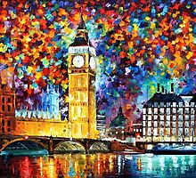 LONDON, BIG BEN - LEONID AFREMOV by Leonid  Afremov