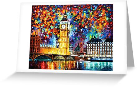 LONDON, BIG BEN - LEONID AFREMOV by Leonid  Afremov