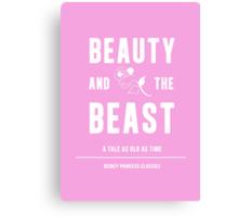 Disney Princesses: Beauty and the Beast Minimalist Canvas Print