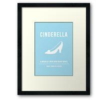 Disney Princesses: Cinderella Minimalist Framed Print