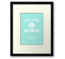 Disney Princesses: The Little Mermaid Minimalist Framed Print