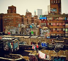 Urban Layer Cake - Chinatown Rooftop Graffiti - NYC by Vivienne Gucwa
