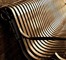 City Bench, Sepia Tone by Bruce Moore