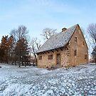 Hans Herr House in Winter by Mark Van Scyoc