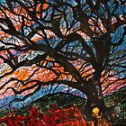 Tree at Sunset by Nira Dabush