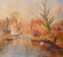 The canal West Hythe in Winter by Beatrice Cloake Pasquier