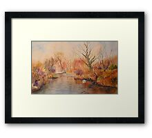 The canal West Hythe in Winter Framed Print