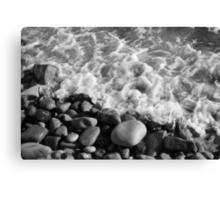 Crail Beach mono Canvas Print