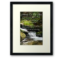 Journey To The Sea II Framed Print