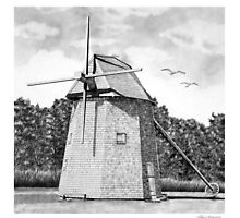 Jonathan Young Windmill, Brewster Ma. by J.D. Bowman