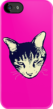 Weird Cat Head iPhone by Margaret Bryant