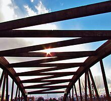Bridge in Caldwell, Idaho, USA by Brenda Dahl