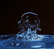 Splashing Water Droplet shaping human profile by Sami Sarkis