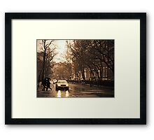 Rain - Greenwich Village - New York City Framed Print