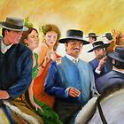Horse Fair in Spain - The boss by Gerard Mignot