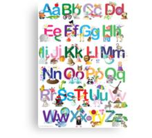 Alphabet for kids Metal Print