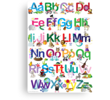 Alphabet for kids Canvas Print