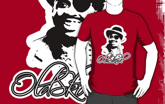 Old School Hip-Hop, Gangsta T-Shirt by Vojin Stanic
