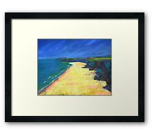 Beach Painting Framed Print
