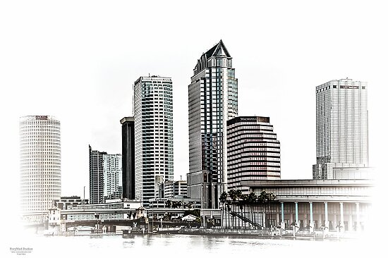 23 Exposure High Key HDR of Tampa Skyline by MKWhite
