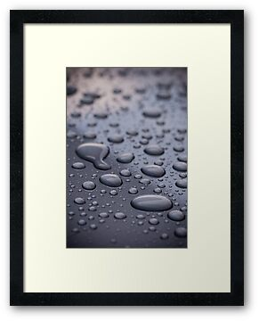 Picture of water droplets on frame