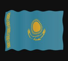 Kazakhstani flag by stuwdamdorp