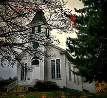 Oakville Willamette Church by Charles & Patricia   Harkins ~ Picture Oregon