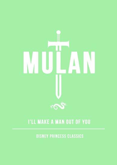 Disney Princesses: Mulan Minimalist by ofalexandra