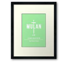 Disney Princesses: Mulan Minimalist Framed Print