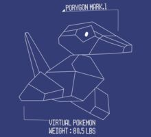 Porygon Blueprint by Joshua  Smyth