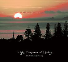 Light tomorrow with today.... by Karen Lewis