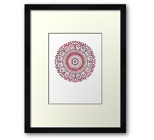 red capricorn Framed Print