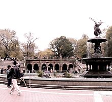 Afternoon At Bethesda Fountain by tperlste