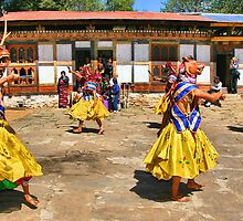 Accompaniment Dance, Bhutan by Carole-Anne