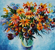 WILDFLOWERS ARRANGEMENT - LEONID AFREMOV by Leonid  Afremov
