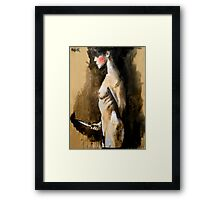 the knife (after Jan Saudek) Framed Print