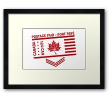 Postage Paid Canada Framed Print