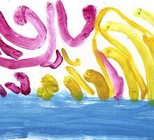 Birds flying over the ocean by Ruth Eiseman (Schloss)