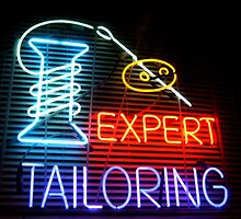 Expert Tailor Neon Sign by Jane Neill-Hancock