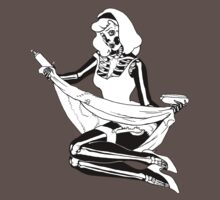 Pin Up Skeleton Girl by cokegonzalez