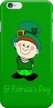 A Little Man Ready for St Patrick's Day iPhone Case by Dennis Melling