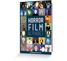 Horror Film Alphabet Greeting Card