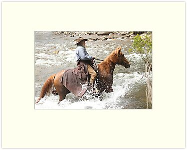 High Country horseman by saltbushbill