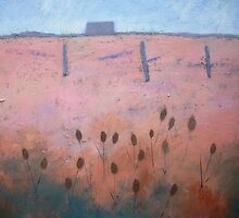 Acrylic on canvas Coastal painting, Rye by Emily King