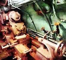 Metal Lathe in Submarine by Susan Savad