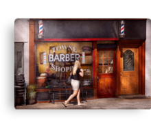 Barber - Barbershop - Time for a haircut Canvas Print